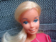 Barbie Superstar MADE IN FRANCE - very rare special french edition, platinum hairs and violet eyebrown, similar to Fashion Play barbie, body Made in France, early '80