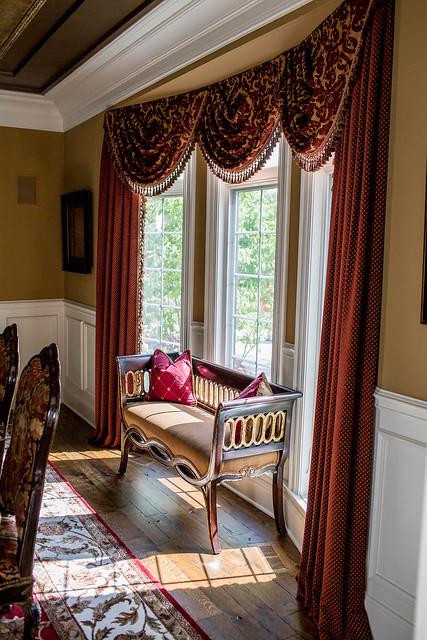 dining room window treatments custom window treatments formal dining room window treatments traditional