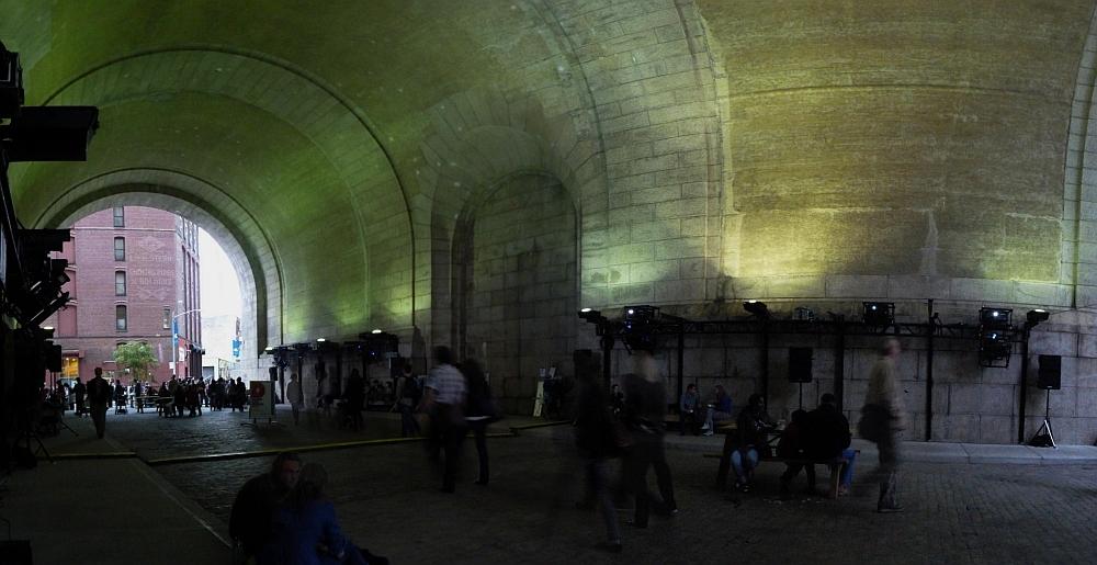Manhattan Bridge Archway Pano