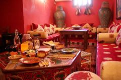 Mesa de pequeno-almoço no Dar Rita