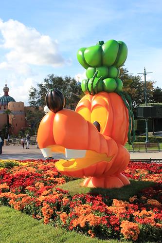 Goofy is a Jack o' Lantern