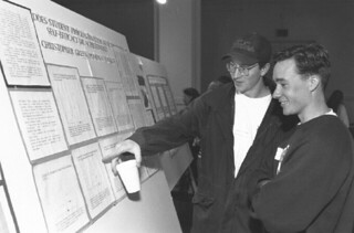 The Fall Science Poster Conference in Edmunds Ballroom in 1995