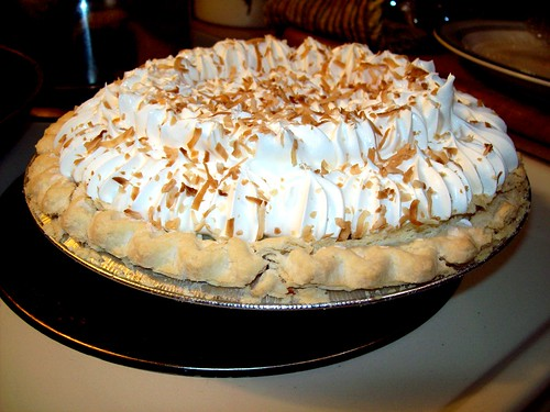 A Marie Callender's Coconut Cream Pie, prior to dispatch into my face