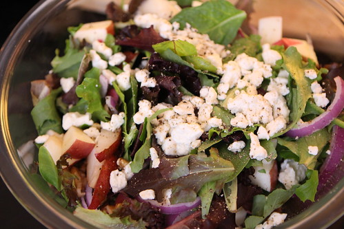 Jen's Apple and Pear Salad with Feta, Red Onion, and Walnuts