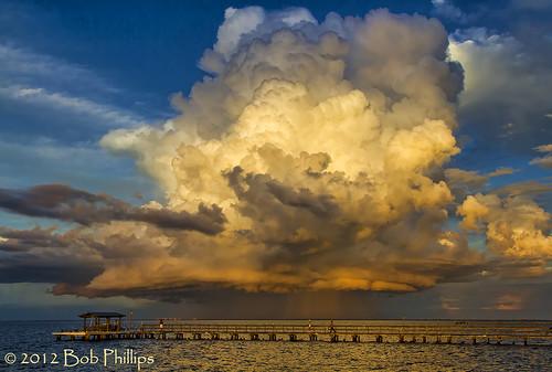 sunset storm gulfofmexico clouds pier pineisland bokeelia