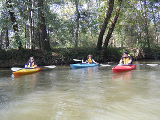 Caitlin, Alan, and Ben on Saluda River
