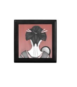 Caja Geisha con espejo