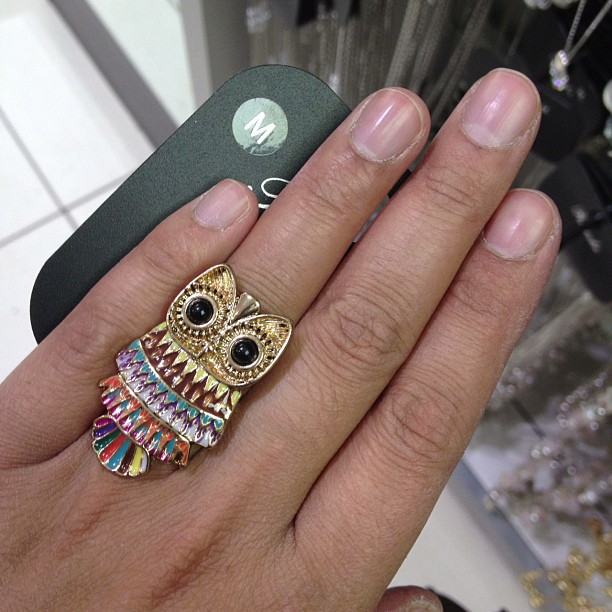 I really loved this #owl #ring from #peacocks but I didn't buy it. It fit properly too as usually they are too big