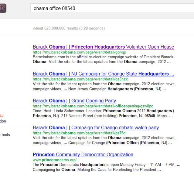 Google obama office 08540