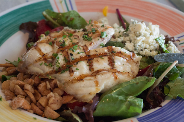 Summer on the Beach Salad with Grouper, Sharky's on the Pier, Venice, FL, Restaurant Review