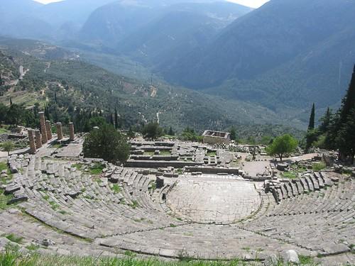temple theatre unesco worldheritagesite greece apollo delfi theodorus afshiniranpour iranyoungtouristssociety