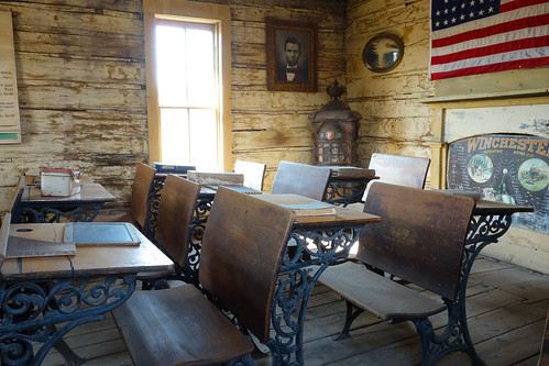 Cody Old trail town - schoolroom
