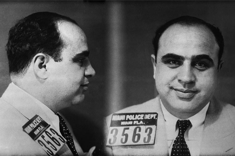 Fotografías policiales de Al Capone (Miami, 1930)