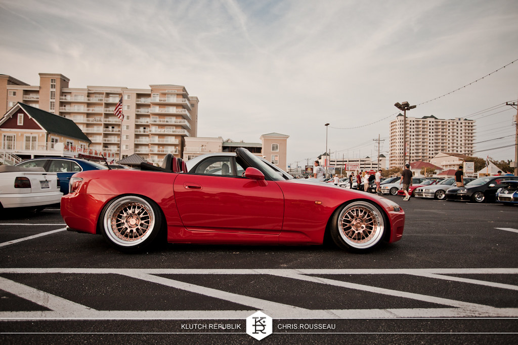 red ap2 honda s2000 copper ccw lw 20s  at h2oi 2012 3pc wheels static airride low slammed coilovers stance stanced hellaflush poke tuck negative postive camber fitment fitted tire stretch laid out hard parked seen on klutch republik