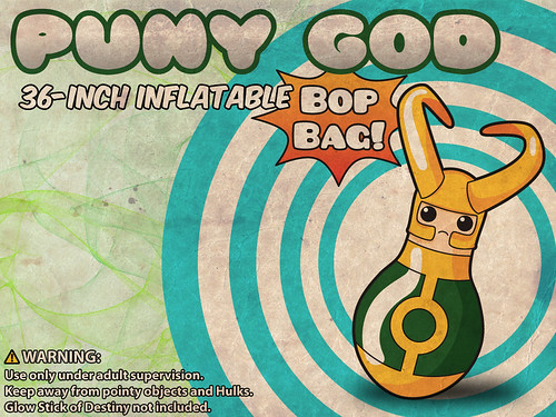 Loki Puny God Bop Bag Toy Avengers fan art by rycz