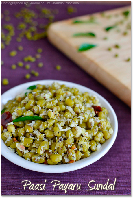 Green Gram Sundal Recipe