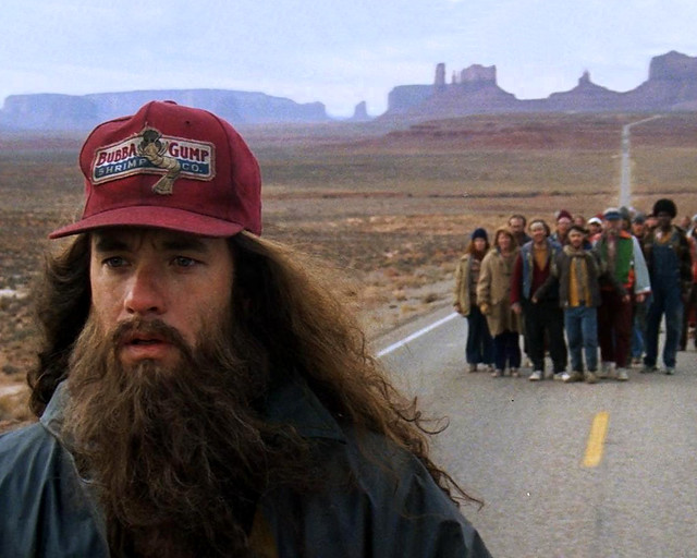 Forrest Gump en la carretera de Monument Valley de la Costa Oeste