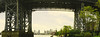 Panoramic View Under Williamsburg Bridge Along Greenway Looking Southward by nrhodesphotos(the_eye_of_the_moment)