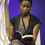 Irenosen Okojie | The First Book Award nominee reads from her astonishly assured debut novel © Robin Mair