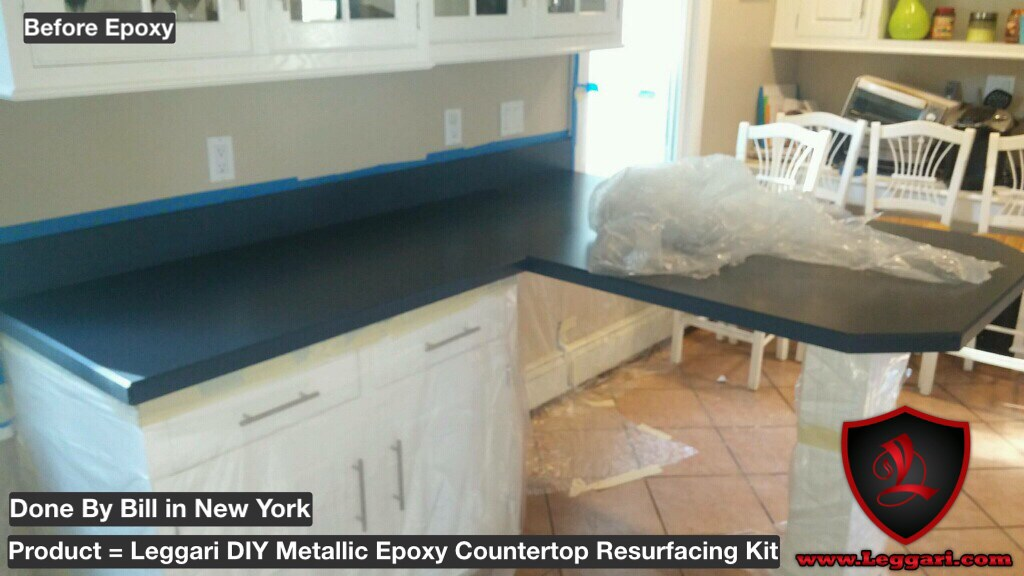 Another Diy Countertop Coated With Leggariproducts Me