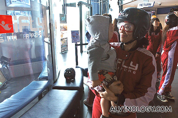 Family visit to iFly Singapore