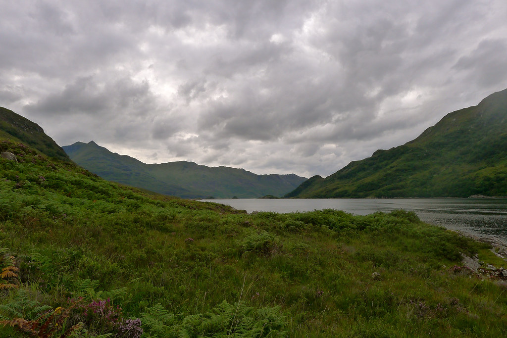 Dark clouds over Loch Hourn