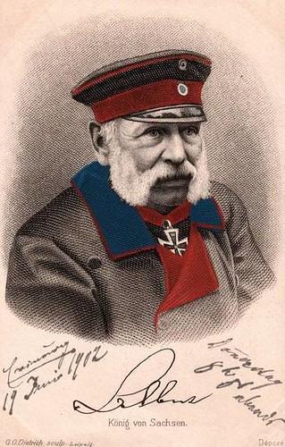 König Albert von Sachsen, King of Saxony by Miss Mertens
