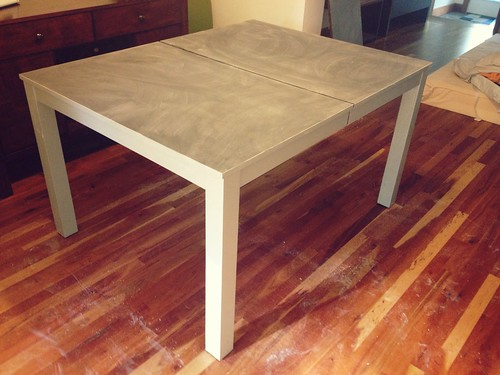 dining table: ready for chalk!
