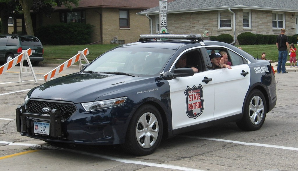 Wisconsin State Patrol In St Francis Days Parade A Photo