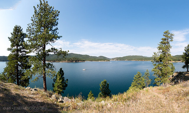 Pactola dam reservoir pano flickr photo sharing for Pactola lake cabins