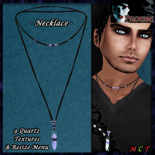 *P* Faery Necklace ~9 Quartz Textures~ Man