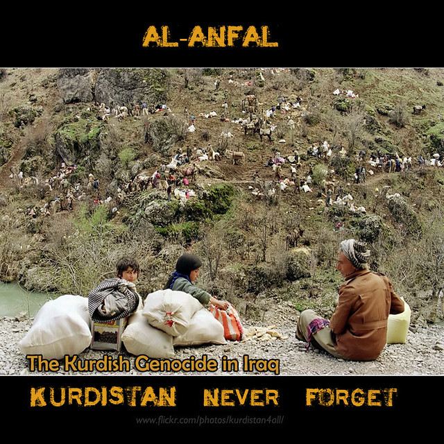 "genocide al anfal The un defines genocide as the ""intent to destroy, in whole or in part,  in iraq,  the al-anfal campaign took over 182,000 kurdish lives."
