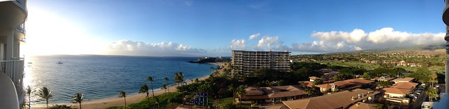Panorama from our balcony #Maui #Kaanapali #Hawaii