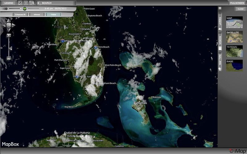 Clouds over Florida, Bahamans, and Cuba
