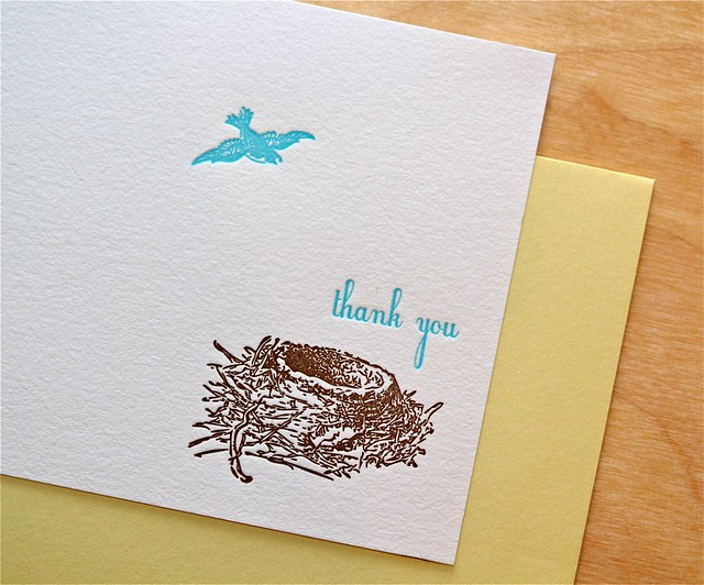 Bird Nest stationery