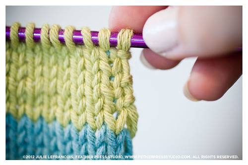 Knitting With Two Colors Carrying Yarn : Free knitting tutorial how to knit stripes and a selvedge