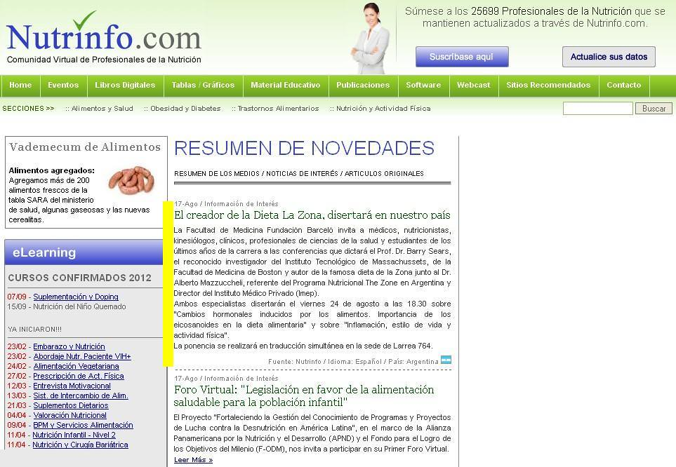 Site Nutrinfo - Conferencia Internacional del Dr. Barry Sears - 17.08.12