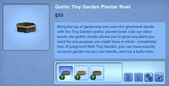Gothic Tiny Garden Planter Bowl