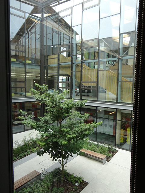 Looking out onto landscaped area, Univesity of Exeter