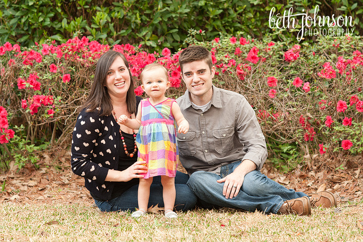tallahassee florida baby family photographer one year old oven park
