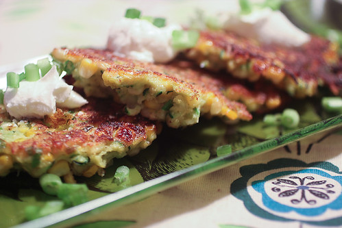 Zucchini and Corn Fritters-3