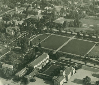 Aerial shot of the campus in 1930