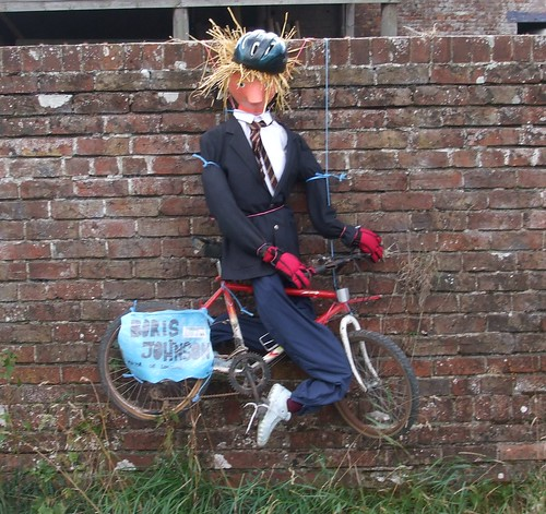 Boris Johnson Scarecrow