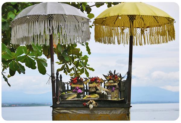Sanur beach altar