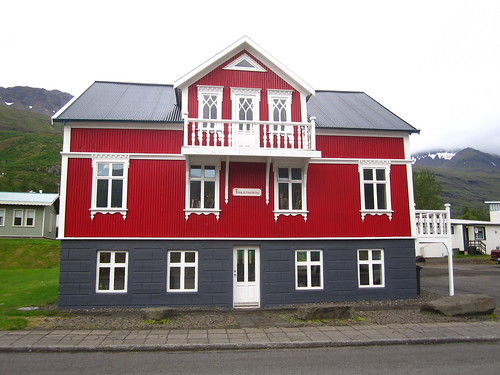 colorful house in seydisfjordur