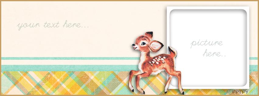 Free vintage deer facebook timeline  cover by FPTFY web ex