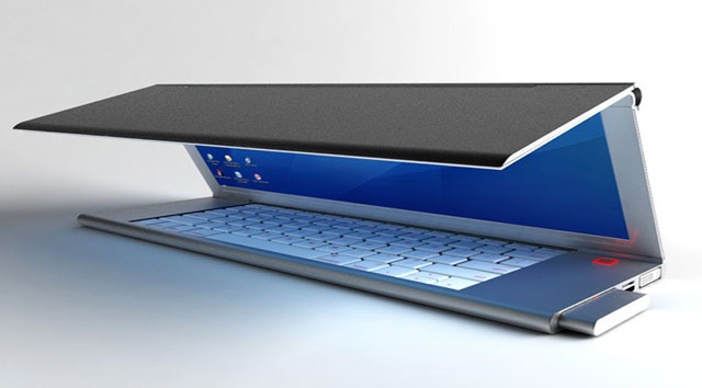 Foldable Notebook with Flexible OLED Screen!