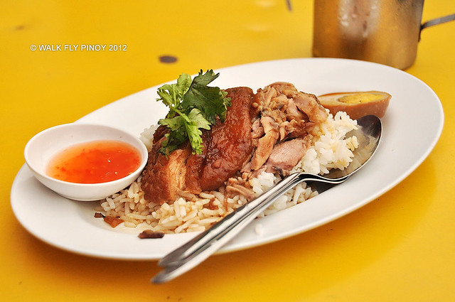 Khao Kha Moo (Sweet Pork Leg on Rice), Thai Food, Thailand