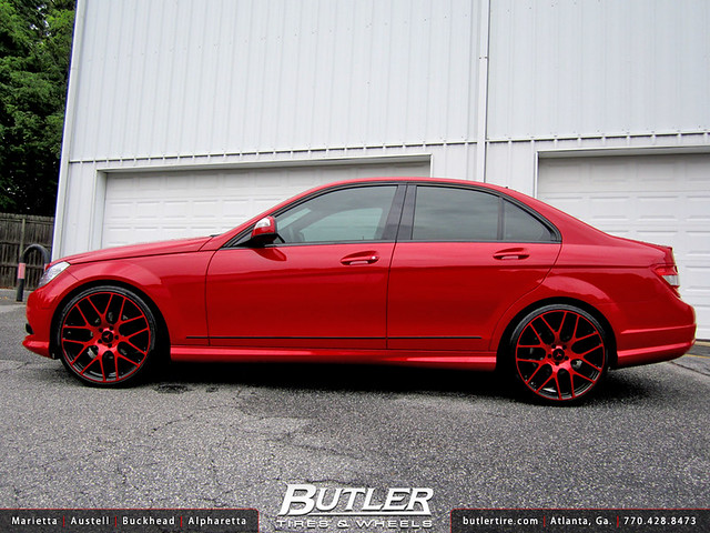 Mercedes Benz C300 with 20in TSW Nurburgring Wheels