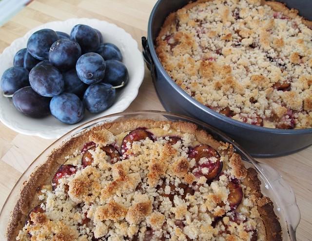 Italian Prunes & Ricotta pie, gluten free